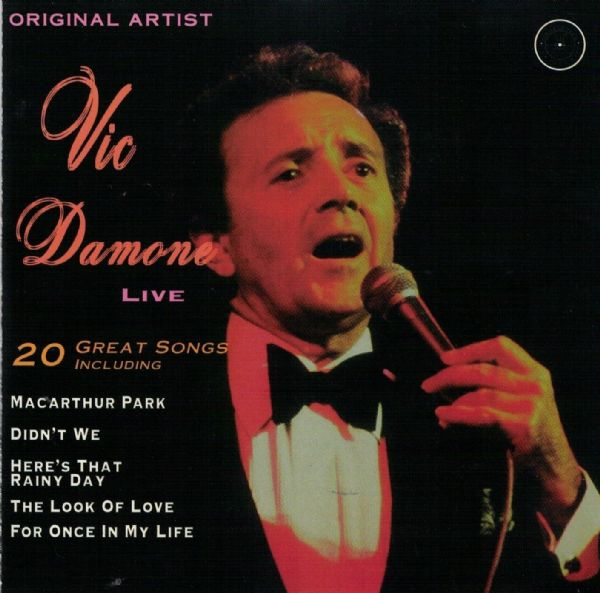 VIC DAMONE - LIVE (CD 1994) USED